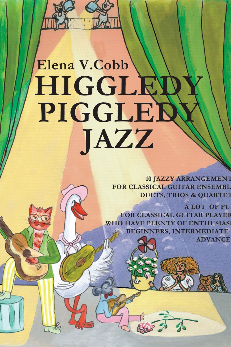 Higgledy Piggledy Jazz classical guitar ensemble by Elena Cobb
