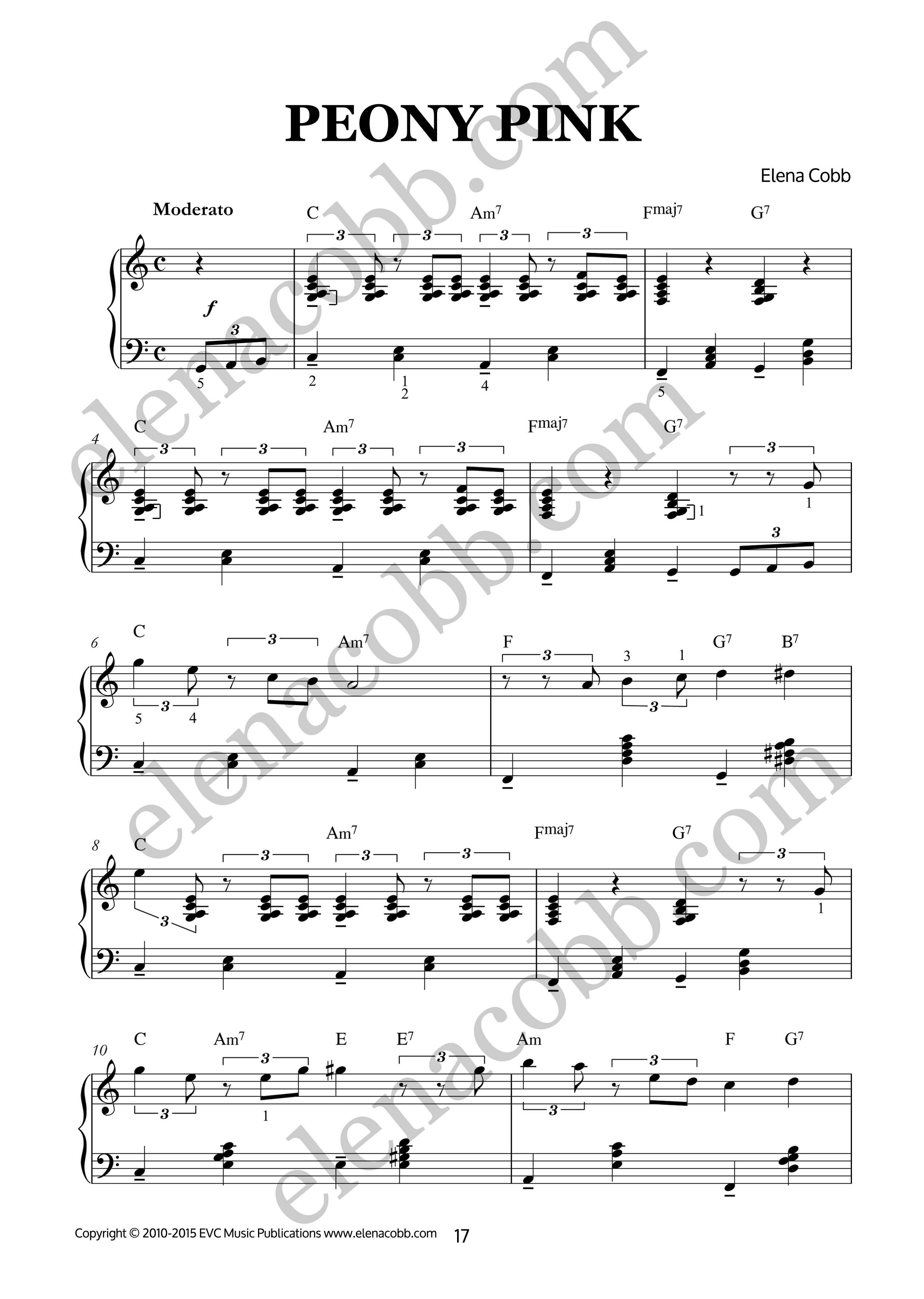 Higgledy Piggledy Jazz for piano by Elena Cobb