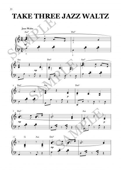 Take Three Jazz Waltz Elena Cobb EVC Music