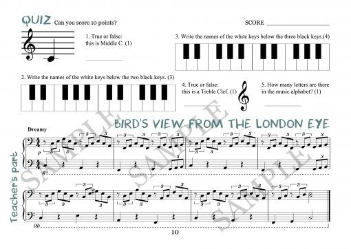 Birds View From the London Eye Elena Cobb Teacher Part EVC Music
