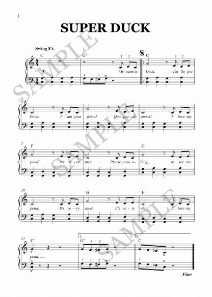Super Duck for piano by Elena Cobb