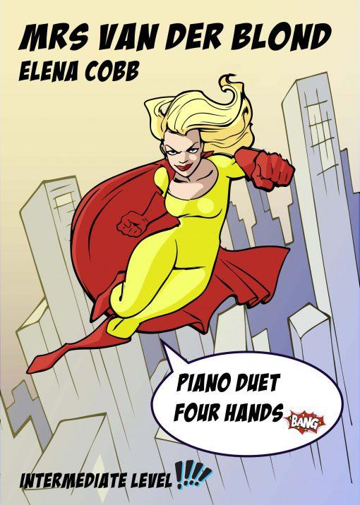 Mrs Van Der Blond piano duet by Elena Cobb
