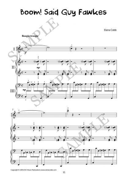 My Piano Trip To London 2, Trios For Beginners At Various Levels By Elena Cobb
