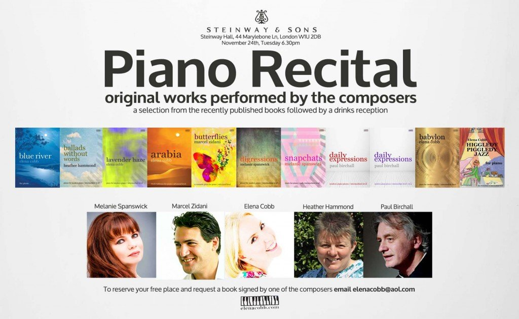 Piano Recital at Steinway Hall London