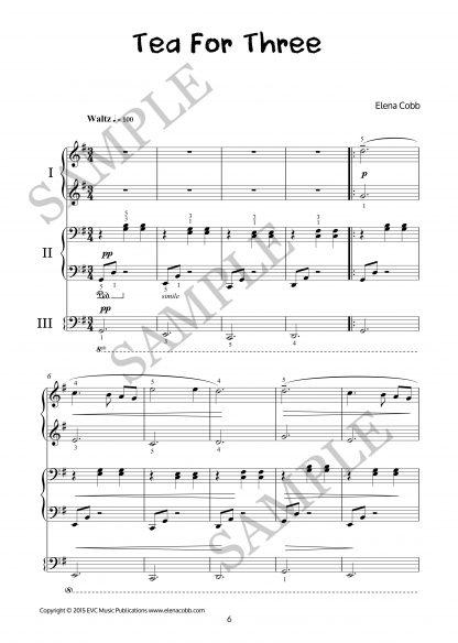 Tea For Three piano trio by Elena Cobb
