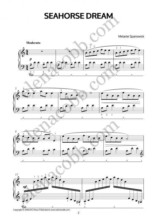 Seahorse Dream for piano by Melanie Spanswick