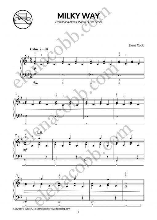 Milky Way piano by Elena Cobb