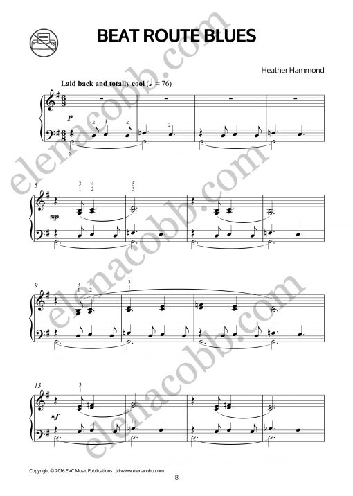 Beat Route Blues for piano Heather Hammond p1