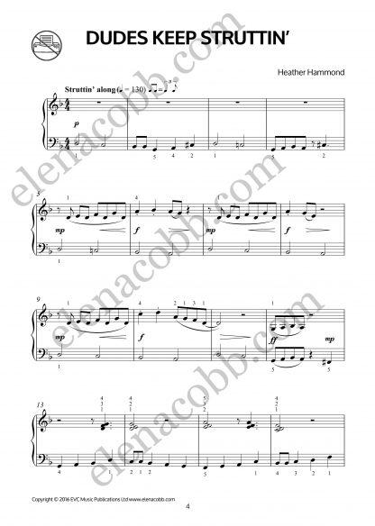Dudes Keep Struttin for piano Heather hammond p1