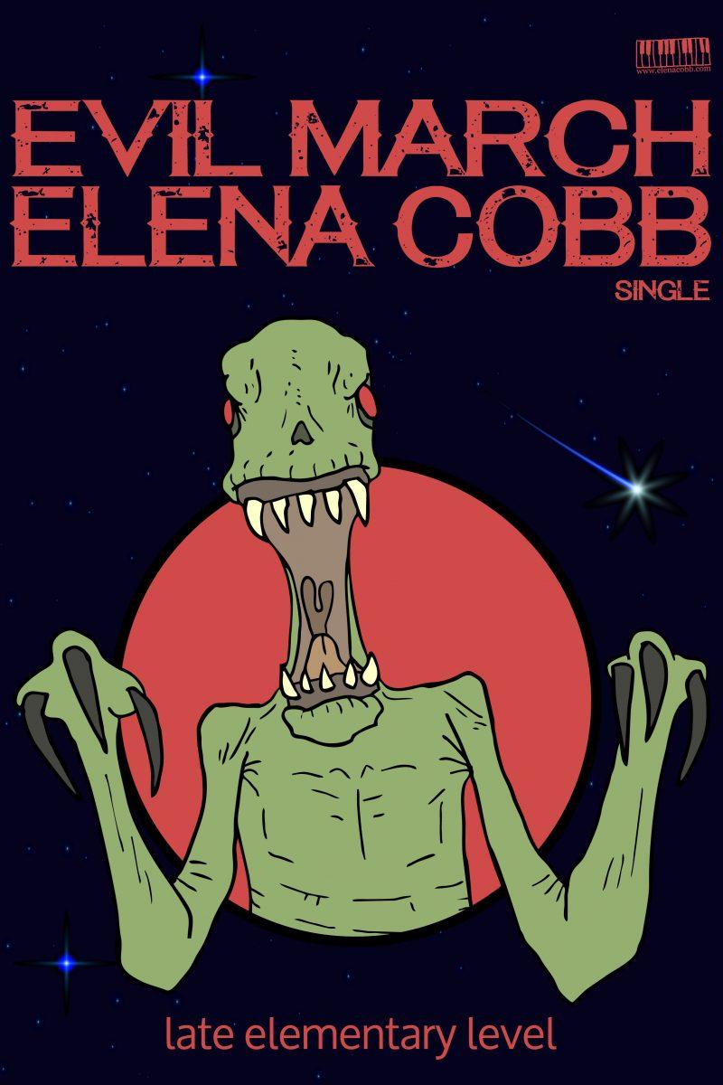 Evil March for piano Elena Cobb