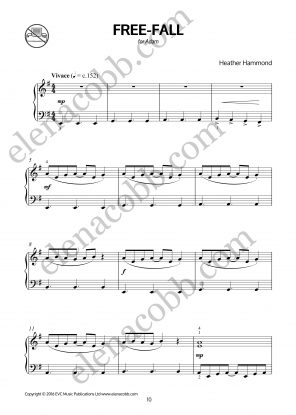 Free-Fall for piano by Heather Hammond p1