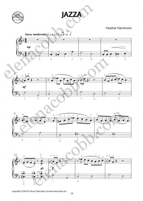 Jazza for piano by Heather Hammond p1