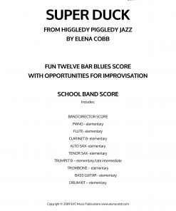 Super Duck School Jazz Band Score