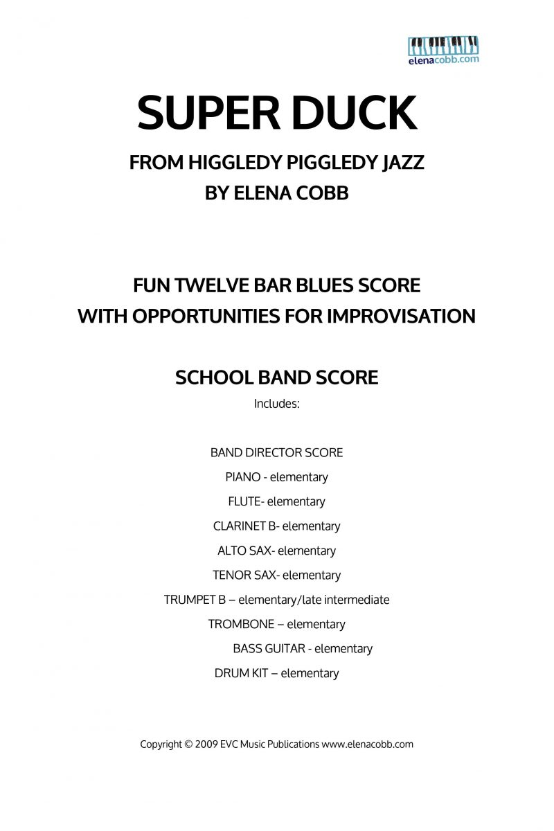 Super Duck School Jazz Band Score