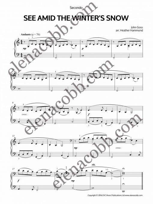 See Amid The Winter's Snow Piano Duet Heather Hammond
