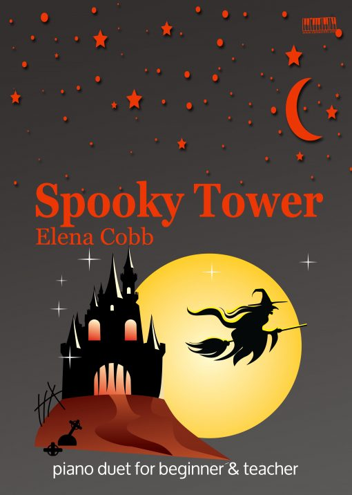 Spooky Tower piano duet by Elena Cobb