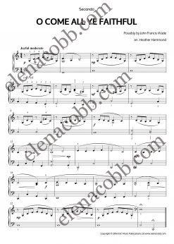 O Come All Yy Faithful Piano Duet Heather Hammond
