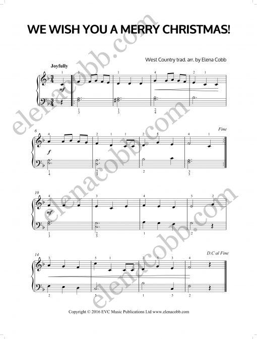 We Wish You A Merry Christmas arr Elena Cobb EVC Music