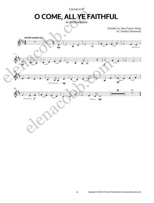 O Come All Ye Faithfull Clarinet arr H Hammond