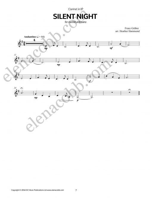 Silent Night Clarinet arr H Hammond