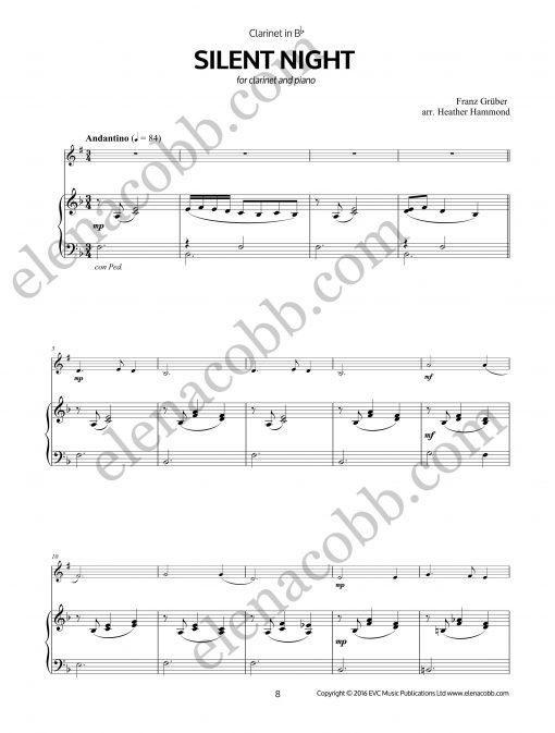 Silent Night Clarinet arr H Hammond piano part