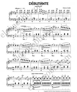 Debutante Grande Valse Piano by Elena Cobb p1