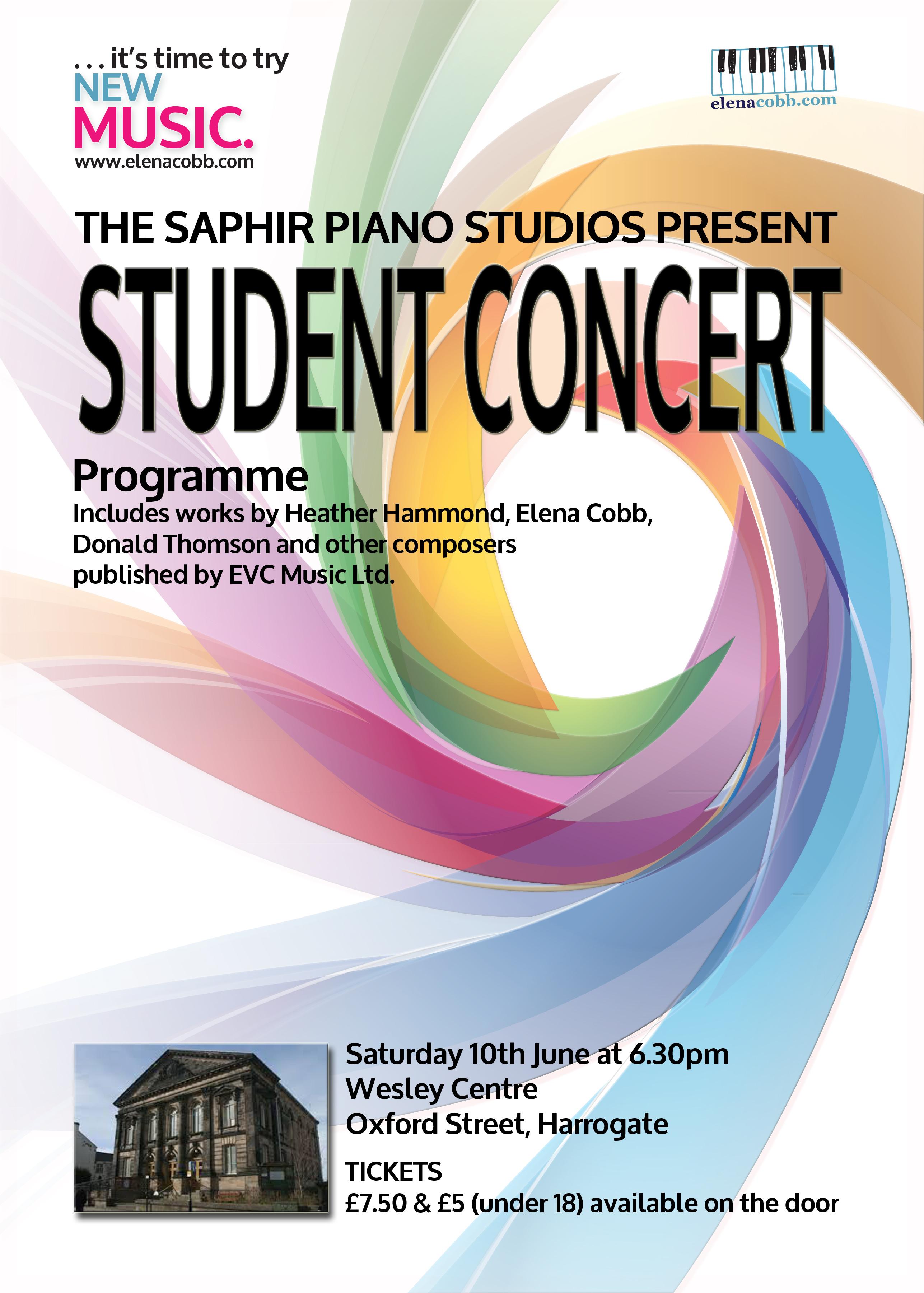 Julian Saphir PIano Studio Concert