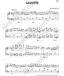Gavotte for piano Irina Nenartovich p1 EVC Music