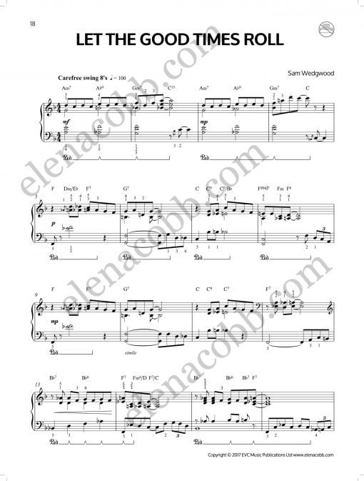 Let the Good Times Roll Sam Wedgwood Jazz Piano p1