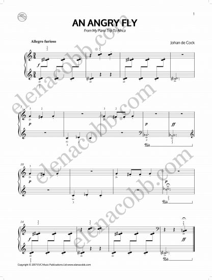 An Angry Fly Piano Johan de Cock EVC Music