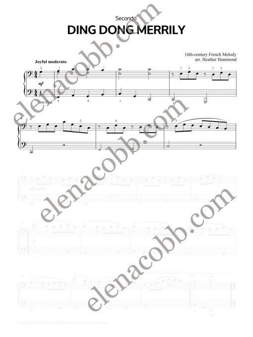 Ding Dong Merrily piano duet Heather Hammond Secondo