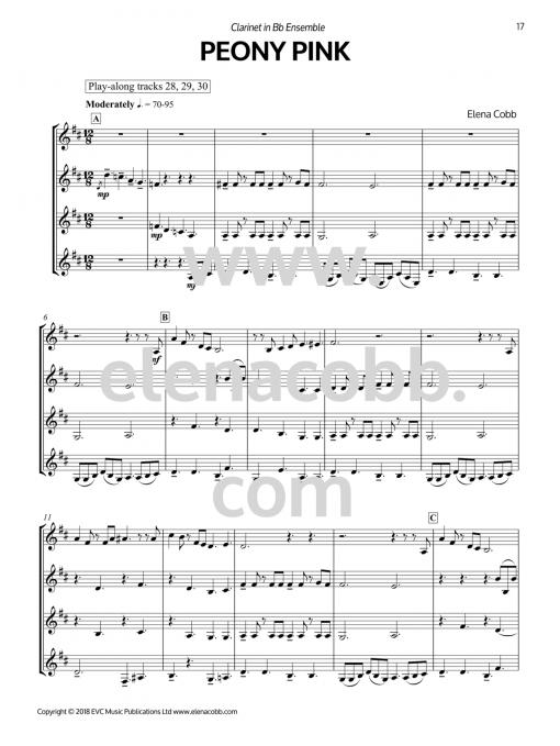 Peony Pink Clarinet Ensemble EVC Music