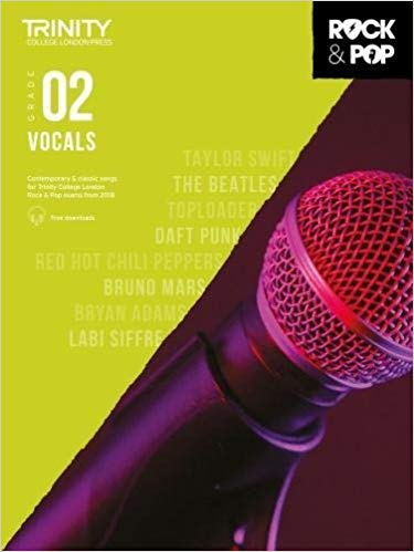 Trinity College London Rock and Pop 2018-2020 Vocals Grade 2